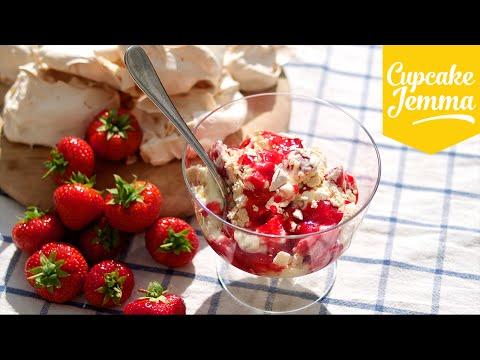Eton Mess Summer Dessert Recipe   Cupcake Jemma