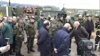 El Príncipe comprobó la capacidad de los servicios de emergencia españoles