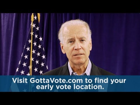 Vice President Joe Biden: Early Voting Starts Today in Ohio