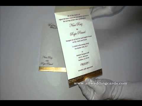 W-5150,250 GSM, Matte Ivory , Indian Cards, Hindu Cards, Muslim Weddin