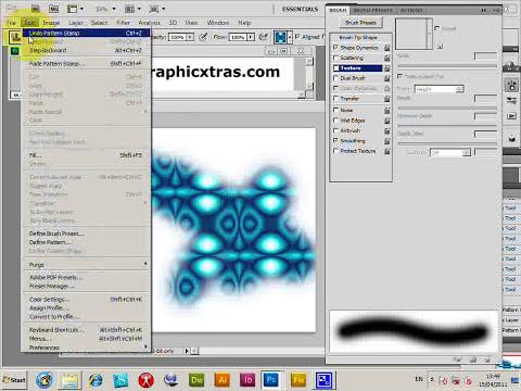 How to use pattern stamp tool in Photoshop (CS5 CS4 CS3 CS2 etc) tutorial