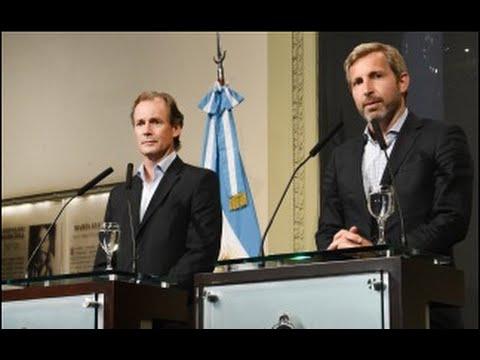 <b>Casa Rosada.</b> Bordet y Frigerio dieron detalles de la reuni�n con Macri.