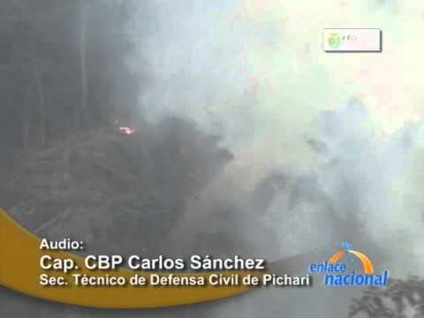 Quema de pastizales en Pichari generó pavoroso incendio forestal