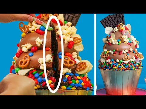 Cut This Cake... You Won't Believe What's Inside | My BIGGEST Cupcake | How To Cake It
