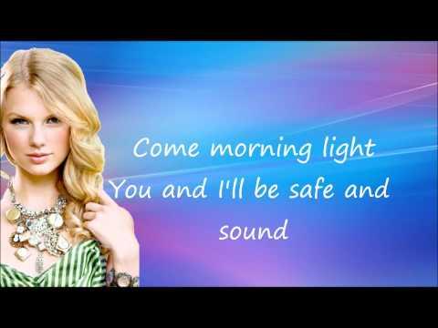 Taylor Swift -  Safe and Sound ft. The Civil Wars  - Lyrics on Screen HD