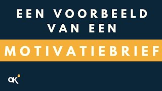 Voorbeeld motivatiebrief   YouTube