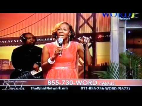 Leandria Johnson on the Dorinda Clark Cole Show singing JESUS