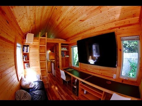 Itty Bitty House Company-Tour-Tiny/small house on wheels interior tour