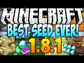★ Minecraft 1.8.1 Seeds: BEST SEED EVER! 6 Diamonds, 2 Dungeons, 2 Temples, 3 Villages AT Spawn!