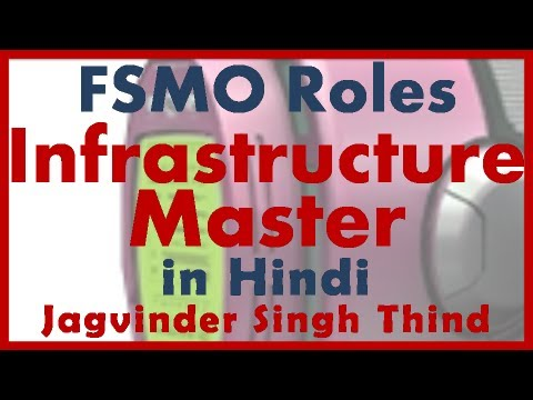 Active Directory Server 2008 Part 24 FSMO Roles 6 Infrastructure Master in Hindi JagvinderThind