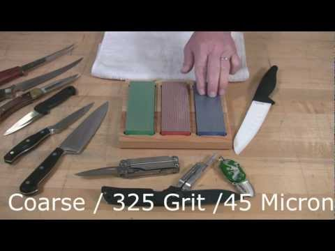 Video of Sharpening your Ceramic Knives