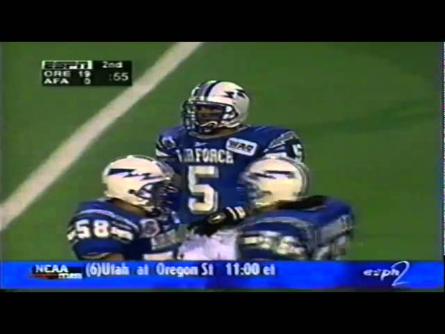 Oregon TE Blake Spence 34 yard catch vs. Air Force 12-20-1997
