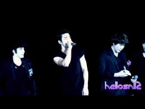 120310 Super Junior Donghae Siwon Kyuhyun - Introduction@SS4 in Macau
