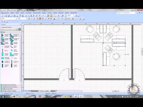 MS VISIO Aula 2/2 - Como criar uma PLANTA BAIXA de Layout de Escritrio www.professorramos.com