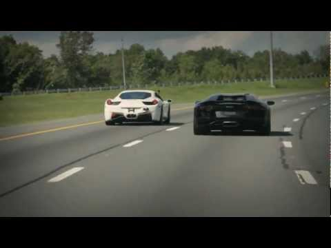 Ferrari 458 Italia vs Lamborghini Aventador - Shootout
