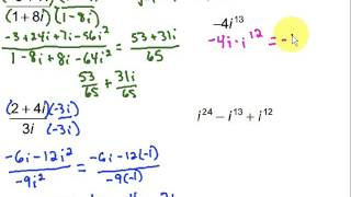 Dividing And Simplifying Complex Numbers Youtube
