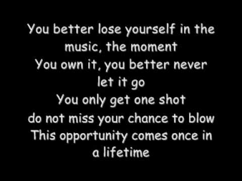 Eminem Loose Yourself With Lyrics