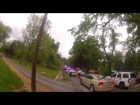 Raw Police Chase footage that ended in shoot out st louis mo 5-10-13