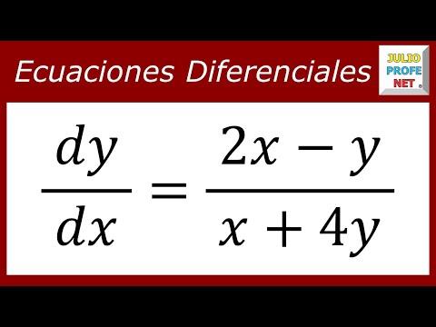 Solución de una Ecuación Diferencial Homogénea