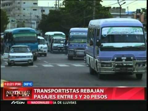 Transportistas rebajan pasajes entre 5 y 20 pesos…