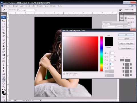 Photoshop CS3 - Phan 4 - Bai 8 - Ky thuat tron nen ghep anh nen den