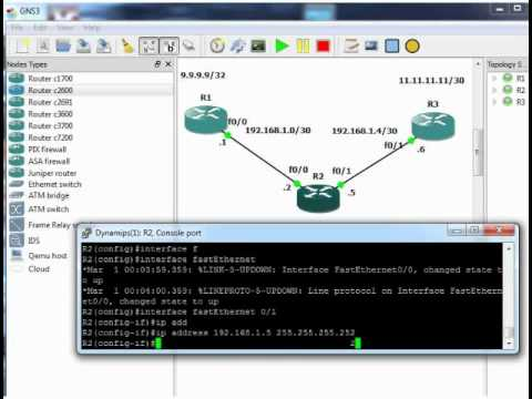 CCNA lab - basic RIP routing with GNS3 - # CCNA labs #