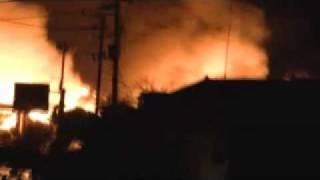 東日本大震災 気仙沼 津波後の火災 鹿折 Ⅳ