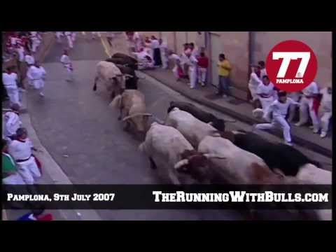 9th July 2007 - The running of the bulls in Pamplona