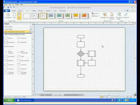 Visio 2010 Live Preview - Layout