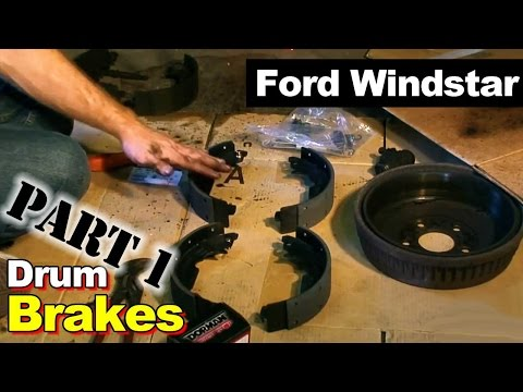 2002 Ford Windstar Rear Brake Cylinder, Brake Shoes, and Hardware Repair Part 1