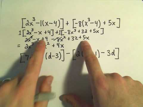 Polynomials: Adding, Subtracting, Multiplying and Simplifying - Example 1