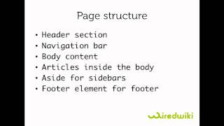 Html 5 tutorial - 06 - Html 5 page structure.mp4