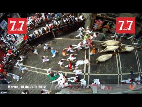 Encierro San Fermin Pamplona 10 de Julio 2012   El Pilar