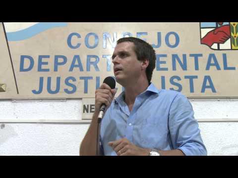 <b>Sumar militantes. </b>Enrique Cresto lanz� campa�a de afiliaci�n al PJ en Concordia