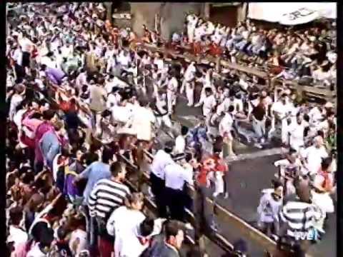 Encierro San Fermin Pamplona encierro 1994
