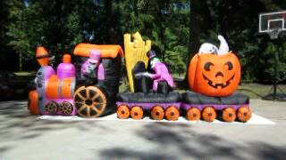 Gemmy Animated Airblown Halloween Train Organ Pumpkin 16u0027