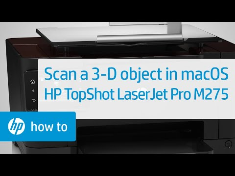 Scanning a 3-D Object Using a Mac - HP TopShot LaserJet Pro M275 MFP