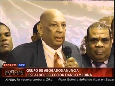 Grupo de abogados anuncia respaldo reelección…