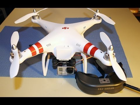 Installing Fat Shark Predator FPV Goggles to DJI Phantom Quadcopter with GoPro Hero 3 Camera