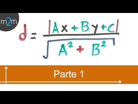 Distancia entre un punto y una recta - geometría analítica (PARTE 1)