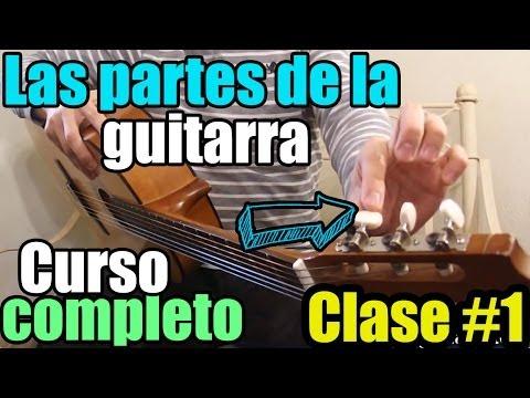 Clases de guitarra desde cero: No.1 Las partes de la guitarra