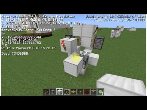 Minecraft Tutorial - 10 Minute Pulse Clock - Compact 6x6x5