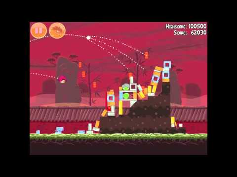 Angry Birds Seasons Year of the Dragon 1-5 Walkthrough 2012 3 Star