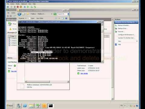 3- Exchange 2010- Restore to a RDB using Windows Server Backup