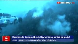 Bozburun'da Hawaii türü yanardağ bulundu.