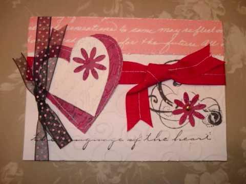 Tarjetas de San Valentín hechas a mano - Imagui