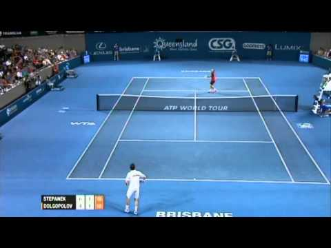 R. Stepanek v A. Dolgopolov Highlights Men's Singles Quarter Final: Brisbane International 2012