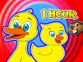 Five Little Ducks + Plus More Children's Songs = 1 Hour Kids Nursery Rhymes Compilation, Baby Video!