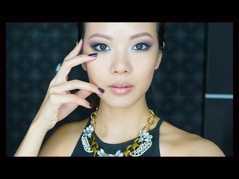 Easy Purple Smoky Makeup Tutorial For Asians (Monolids, Hooded Eyelids) with Dior