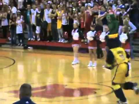 Pacers Mascot Breaks Backboard on Halftime Dunk